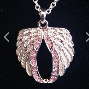 Breast Cancer Crusade Wing Necklace